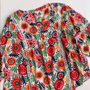Floral Print Crown & Ivy Blouse Sz 2X